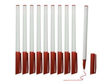 50 Kugelschreiber Kulis Kuli Stifte mit roter Mine Verschlusskappe und Clip
