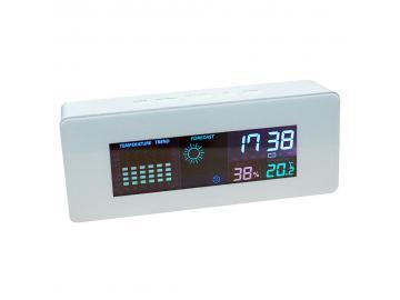 Wetterstation Wecker Tischuhr LCD Wecker Wettervorhersage Luftfeuchte Temperatur