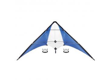 Lenkdrachen Drachen Flugdrachen mit 160 cm Spannweite inkl. Steuerleinen blau