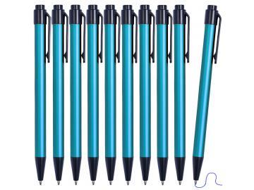10 Stück Kulis Metallkugelschreiber Kugelschreiber Aluminium mit blauer Mine